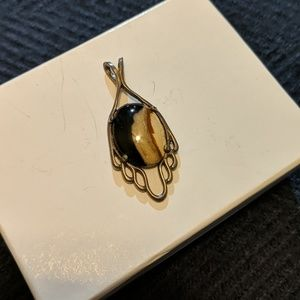 Striped Brown Jasper Pendant